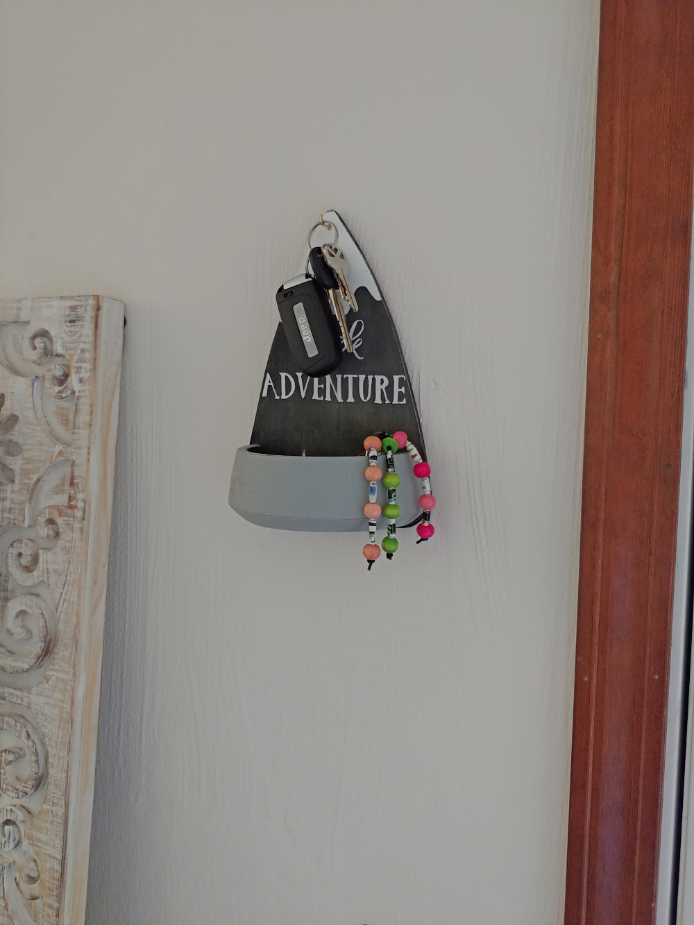 upcycled bowl key holder