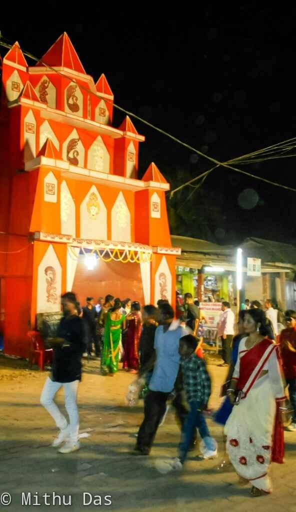 Durga Puja at Thakurbari, Bokajan.