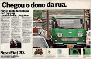 propaganda caminhão Fiat 70 - 1976, caminhão FNM 1976, Fiat anos 70, FNM década de 70, Oswaldo Hernandez, Fiat 70,