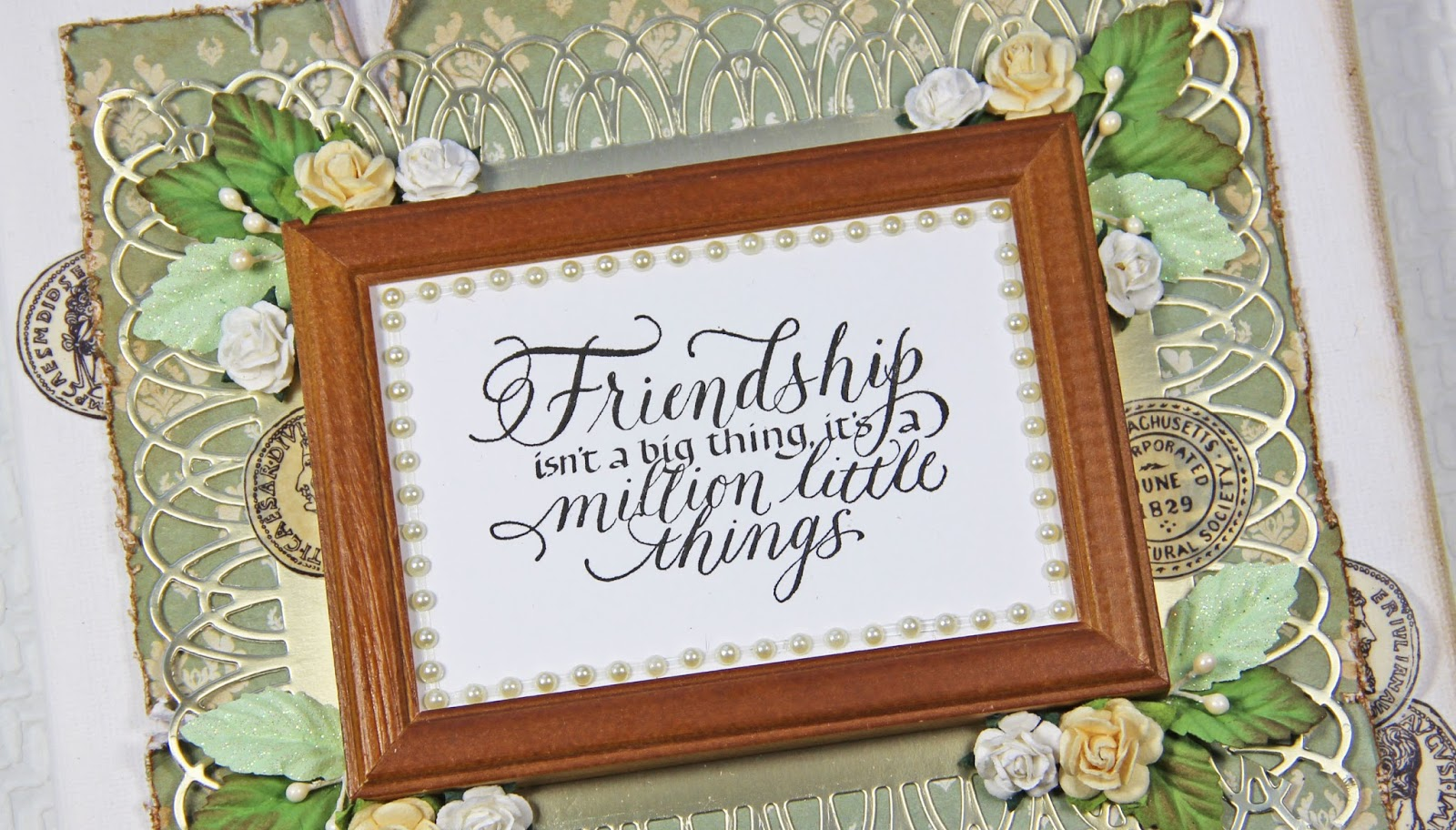 Quietfire Creations: Friendship isn\'t a big thing....Frame