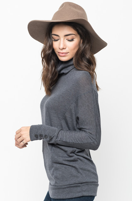 Buy Now cowl neck sweater with buttons Online @caralase.com