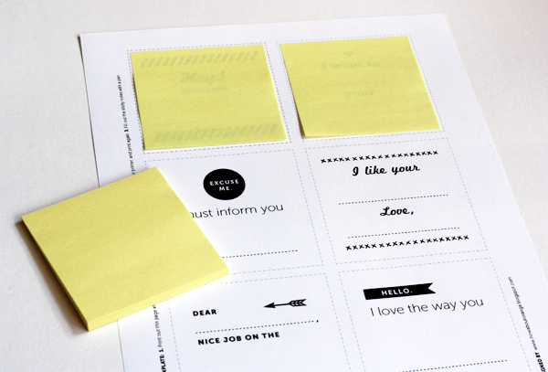 Print your own Post-it notes How About Orange