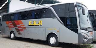 Harga Tiket Bus EKA Cepat Surabaya Jogja, semarang, purwokert, cilacap, purbalingga, solo