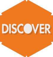 discover hexagon icon