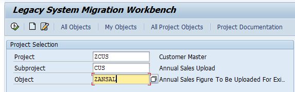 Assigning A Transaction Code (T-Code) To A LSMW Object - 1
