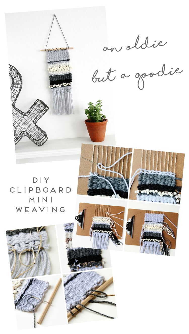 AN OLDIE BUT A GOODIE - DIY CLIPBOARD MINI WEAVING.