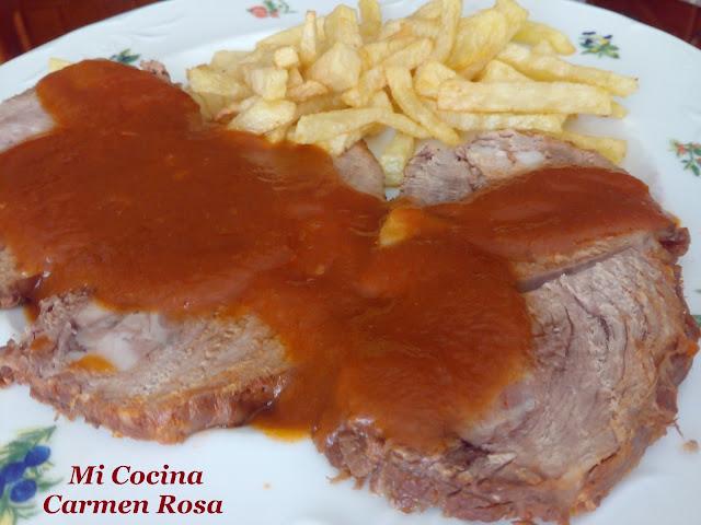 """Carne """"mechá"""" A La Andaluza (pez De Ternera Mechado)"""