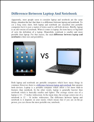 What Is The Difference Between A Notebook And A Laptop