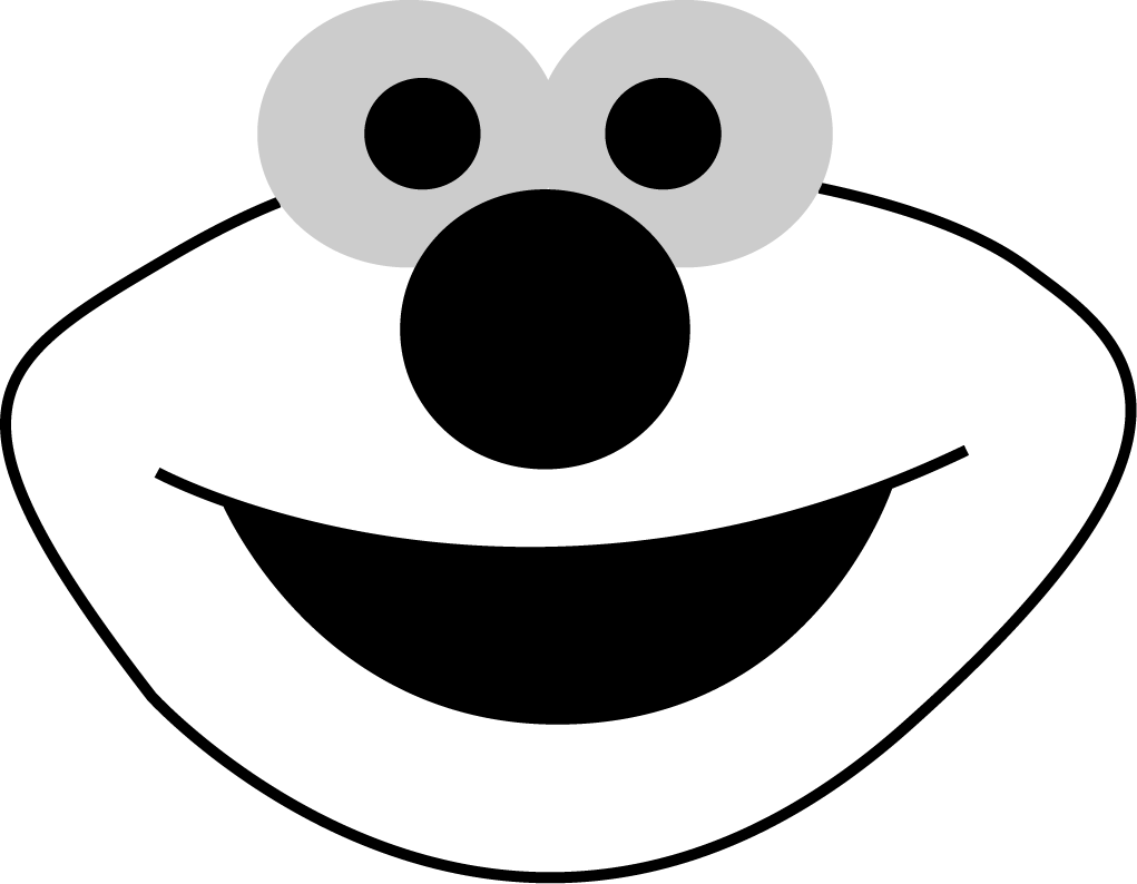 Free printable templates for pumpkin carving - Download Free Printable Elmo Face Stencils Outline Cutout