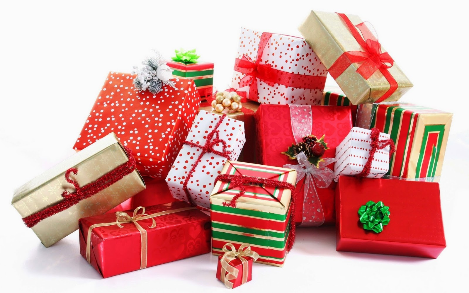 Beautiful Woman With Christmas Gifts Stock Photo - Image ... |Pretty Christmas Presents