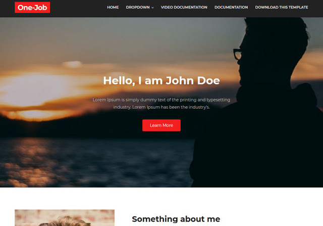 OneJob Blogger Template
