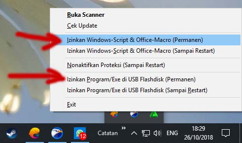 Izinkan Windows Script & Office Macro (Permanen)
