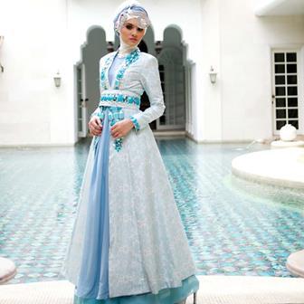 Model Baju Gamis Brokat Untuk Menghadiri Pesta Pernikahan