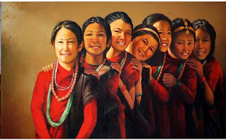 Gurung Girls Cultural Traditional dress