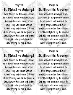 photograph regarding St. Michael the Archangel Prayer Printable named Appear toward Him and be Radiant: Praying with the Angels