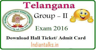 TSPSC Group 2 Exam 2016 Admit Card Released Hall Tickets Download Online