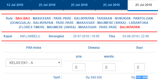 Jadwal Kapal Pelni Bau Bau Balikpapan Juli 2018