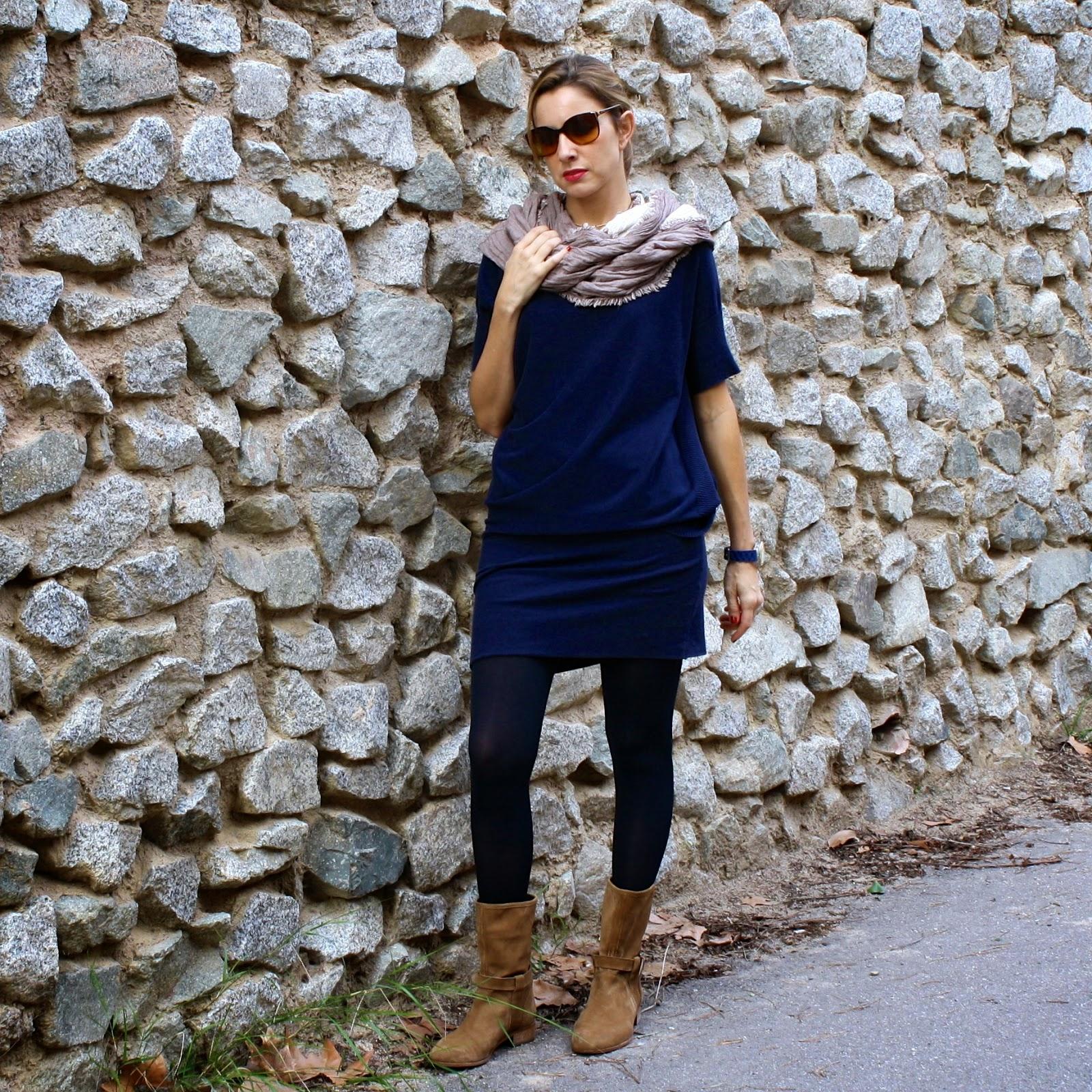 Color medias para vestido azul marino