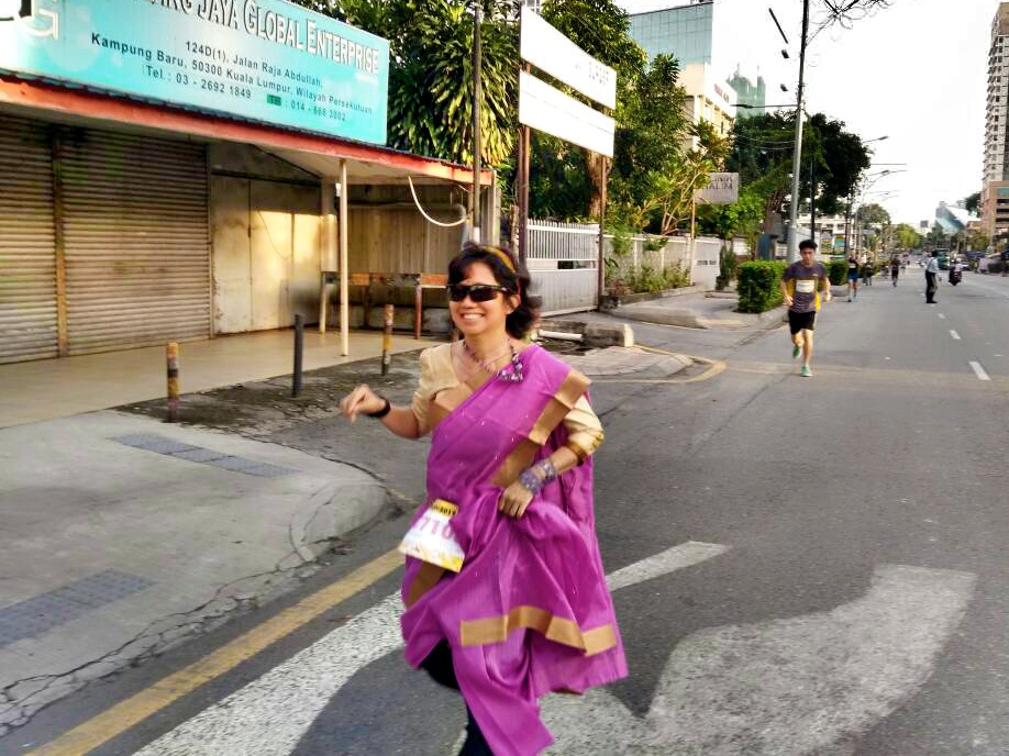 runaway bride in a saree