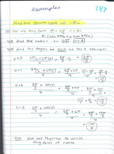Beautiful Math: PreCalculus: DeMoivre\'s Theorem and Calculating ...