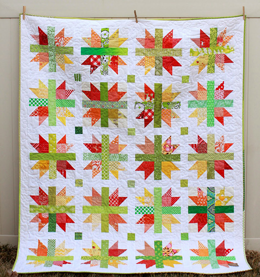Scrappy New England Quilt Free Tutorial