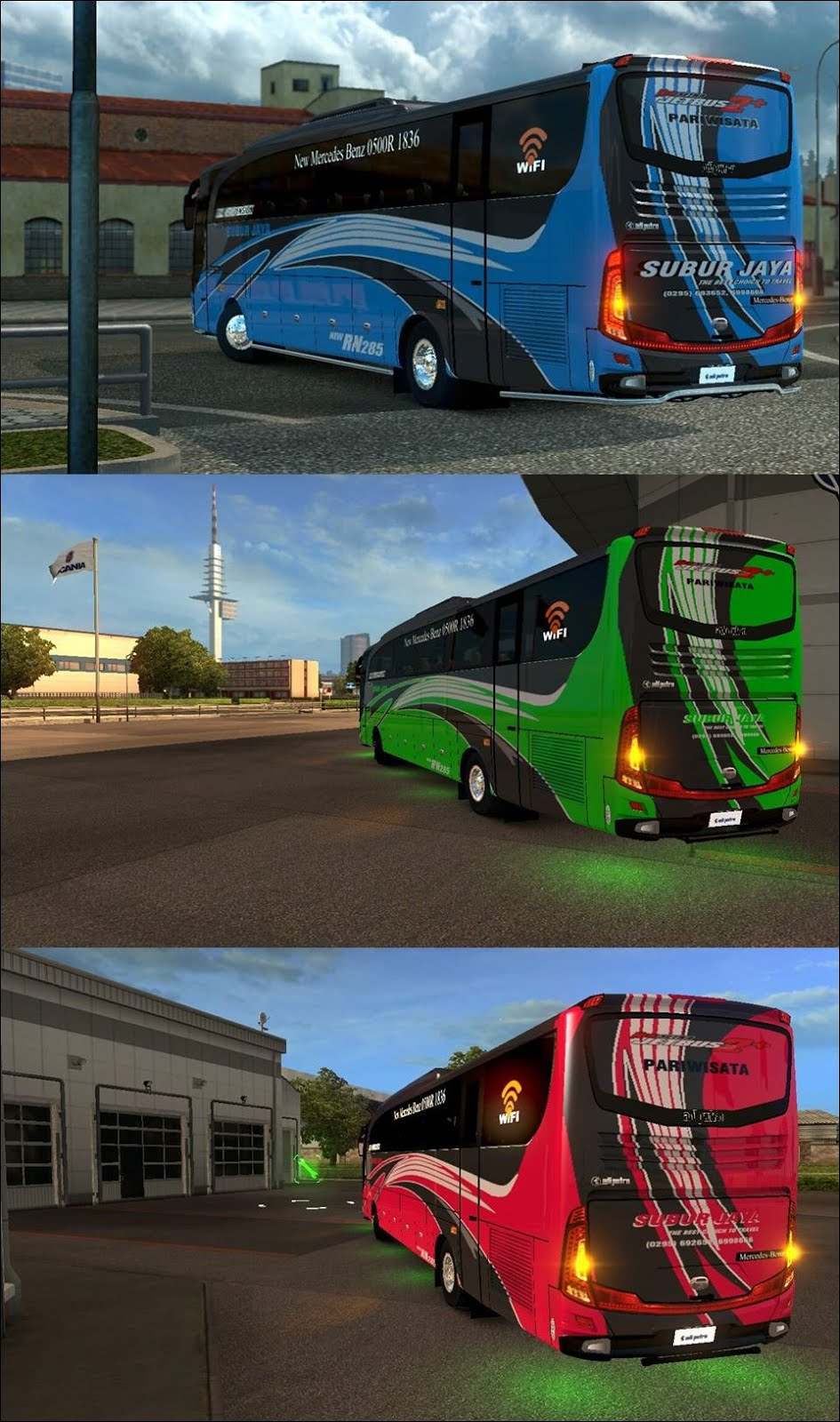 Kumpulan Skin Livery Bus Ets2 Part 5 Mod Indonesia Euro Truck Simulator 2 V130 Dan New Subur Jaya By Ramzy Rahmansyah For Jb2hd