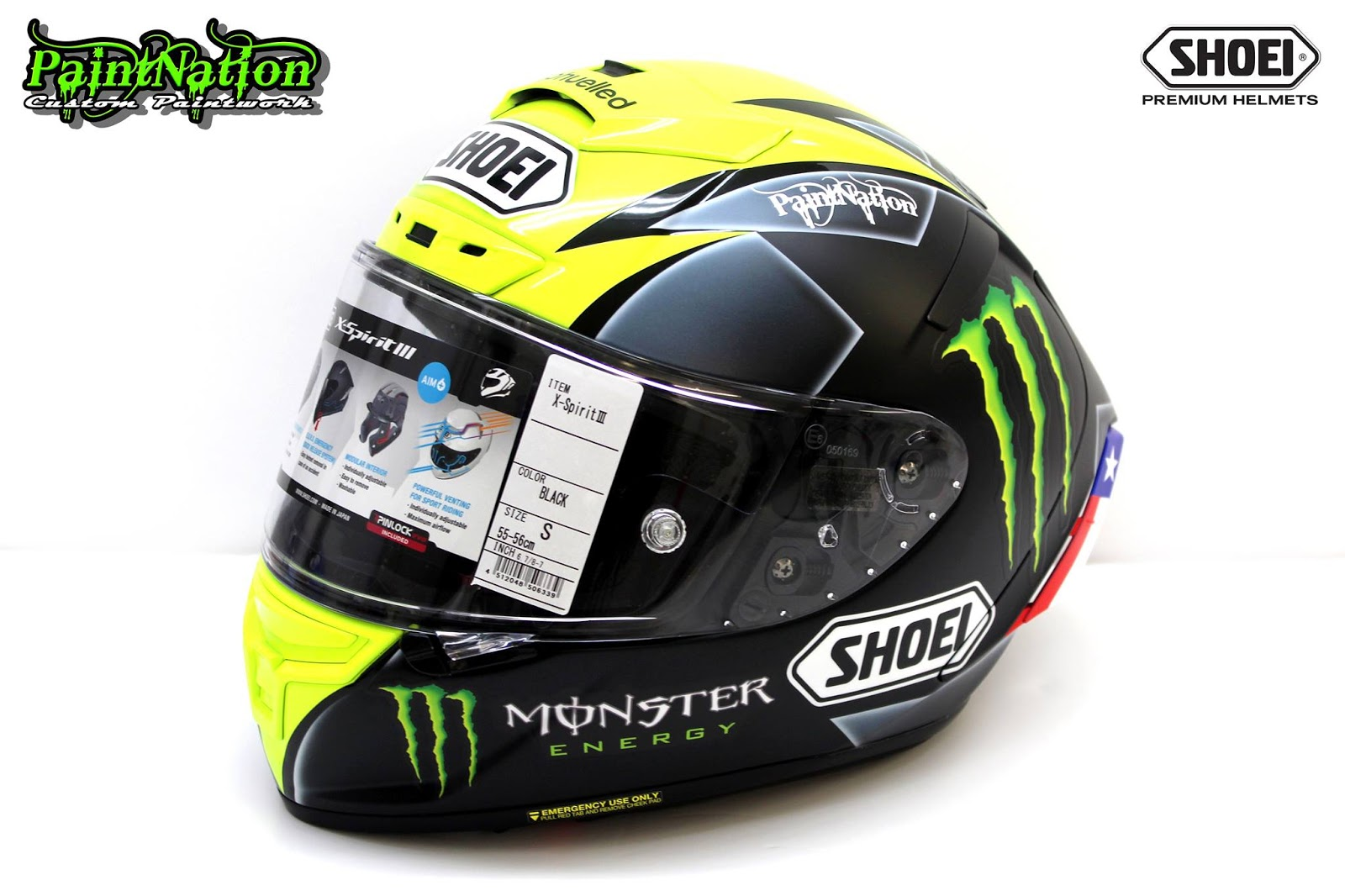 racing helmets garage shoei x spirit iii j ellison 2016 by paintnation. Black Bedroom Furniture Sets. Home Design Ideas