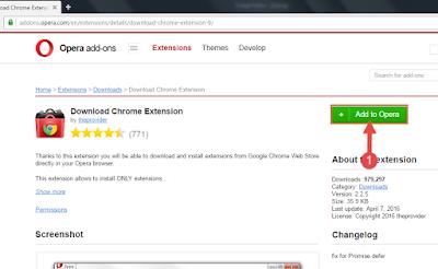 تثبيت اضافات جوجل كروم على متصفح اوبرا
