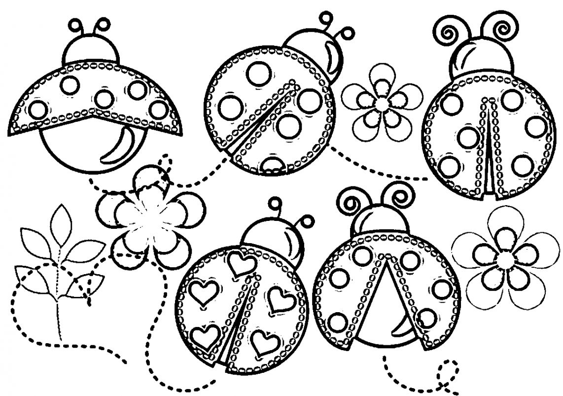 Pictures Of Ladybugs To Color   Wallpapers Craft