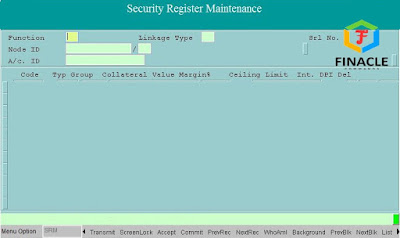 Security Details of Security Register Maintenence