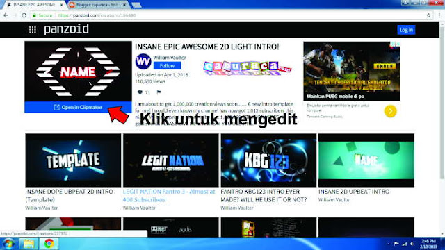 Cara mudah membuat Opening Video Youtube