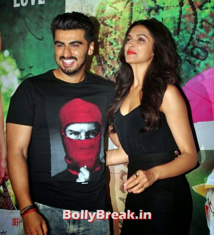 Arjun Kapoor, Deepika Padukone, Deepika, arjun, Hrithik Pics from Finding Fanny Movie Screening