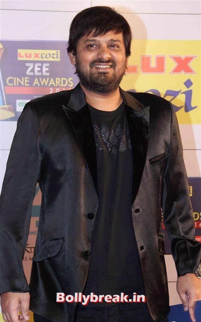 Wajid, Zee Cine Awards 2014 Red Carpet Pics