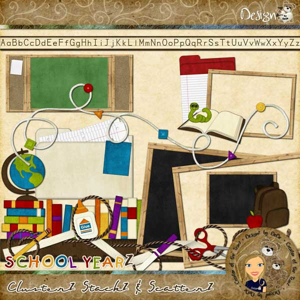 School YearZ: ClusterZ StackZ & ScatterZ by DeDe Smith (DesignZ by DeDe)