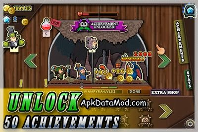 Tap Heroes Apk archievement unlocked