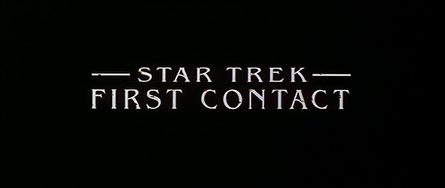 Star Trek First Contact title logo DVD