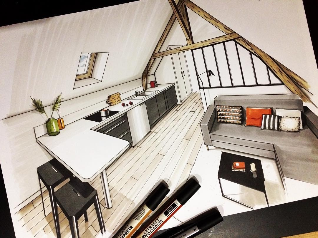 06-Loft-Apartment-Jean-Rémi-Desbrousses-A-Passion-for-Interior-Design-Drawings-www-designstack-co