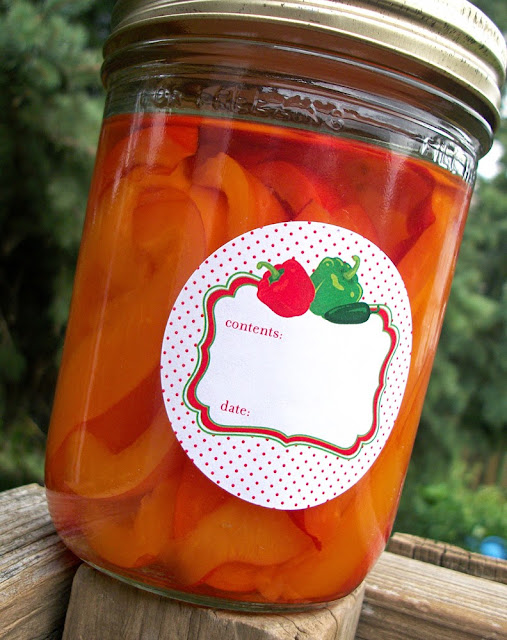 pepper canning label