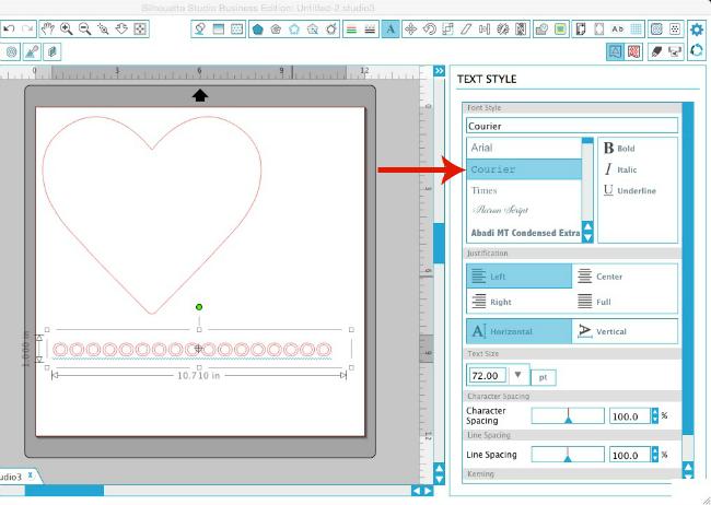 Silhouette tutorial, Silhouette hack, scalloped edge, Silhouette Cameo, Silhouette Studio, courier font