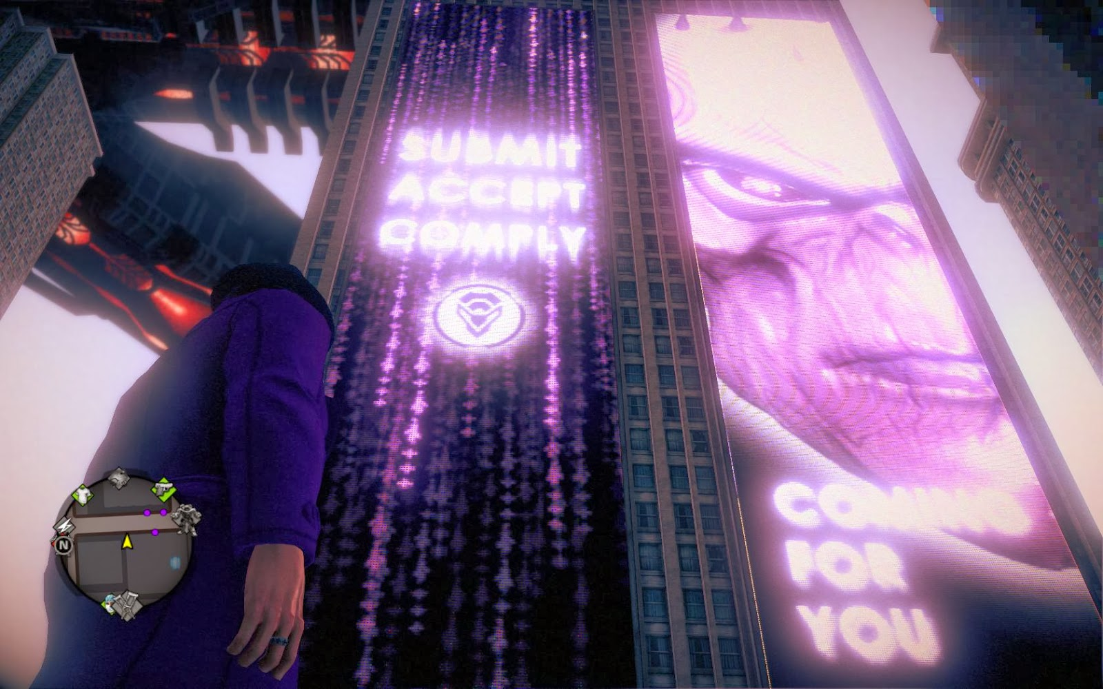 Image result for saints row 4 zinyak billboards