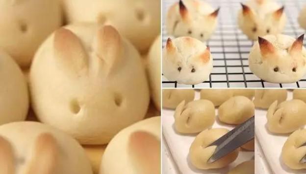 Alguém tentou fazer alguns pãezinhos lindos em formato de coelho