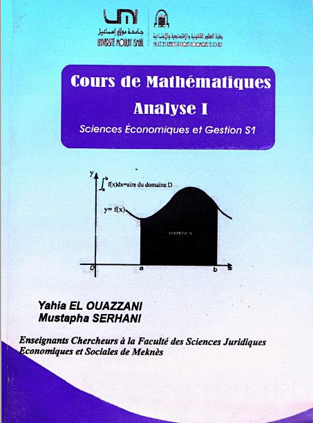 Livre Analyse mathématique S1