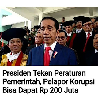Wow, Sekarang Pelapor Kasus Korupsi Bisa Dapat Hadiah 200 Juta!