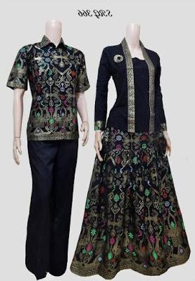 Model baju batik muslim couple keluarga