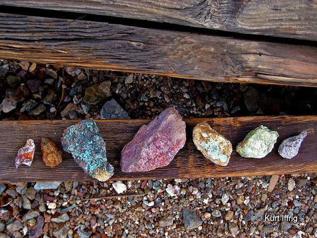 A rock study of local minerals.  The Silver Bell Mine made most of its money from copper.