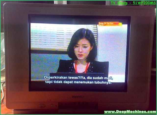 """Perbaikan Kerusakan Korslet Komponen TV Sharp 21"""" Model: 51WF200MS"""
