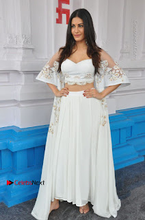 Telugu Actress Amyra Dastur Stills in White Skirt and Blouse at Anandi Indira Production LLP Production no 1 Opening 0012