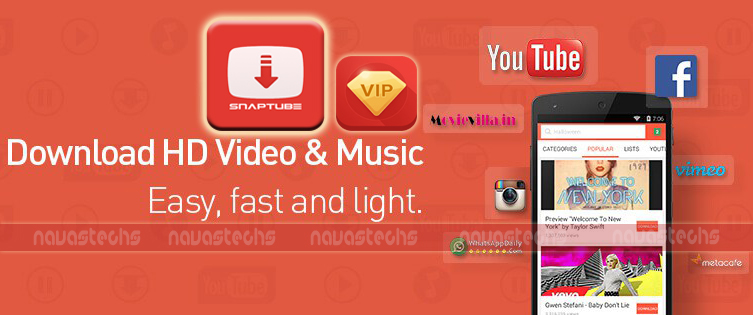 Download SnapTube VIP Version  [Fb,Youtube&All Download] *NO