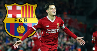 An agreement between Barcelona and Liverpool to join Coutinho for 160 million euros