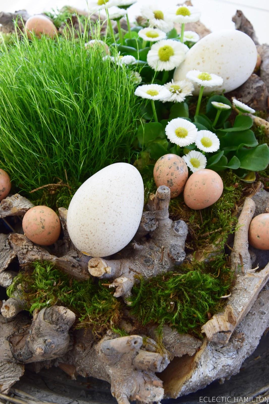 Von fr hling zu ostern in wenigen minuten eclectic hamilton - Holzkranz dekorieren ...